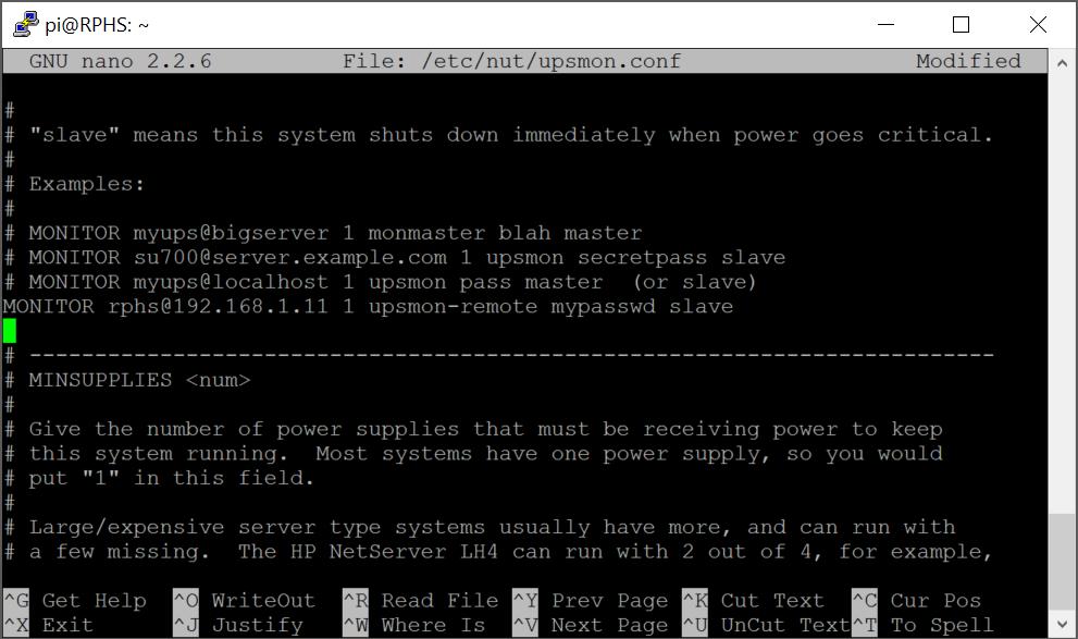 Raspberry Pi Home Server v2: Network UPS Tools | MelGrubb ToBlog()